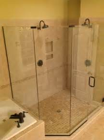 a shower enclosure installed in a forest