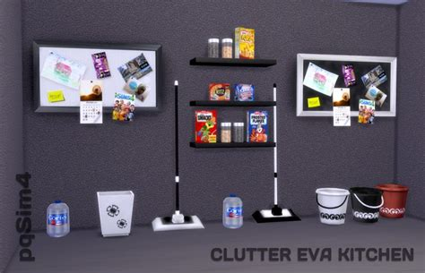 sims 4 cc clutter sims 4 clutter eva kitchen pqsim4 sims 4 custom
