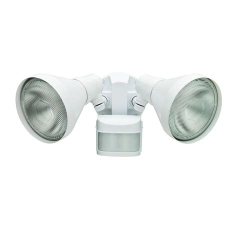 Defiant Outdoor Light Defiant 270 Degree White Motion Outdoor Security Area Light Dfi 5424 Wh The Home Depot