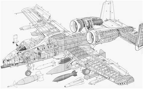 site plan drawing a10 fairchild republic a 10 thunderbolt ii blueprint
