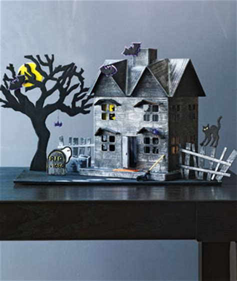 How To Make A Paper Haunted House - haunted house crafts for crafts