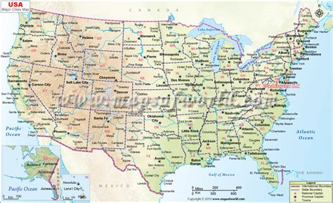 us map with main cities map of the us major cities