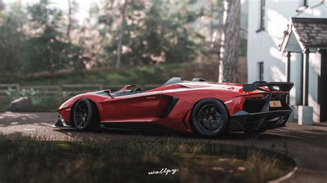 lamborghini aventador roadster sv 4k hd desktop wallpaper lamborghini aventador sv forza horizon 4k hd games 4k wallpapers images backgrounds photos