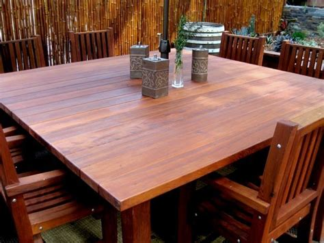 square patio table square patio tables built to last decades forever redwood