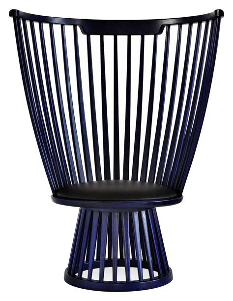 armchair fan fan chair armchair h 112 cm indigo by tom dixon