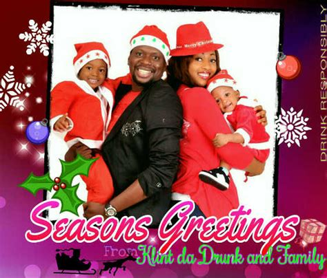 photospeak nigerian celebrities send  family christmas cards daily post nigeria