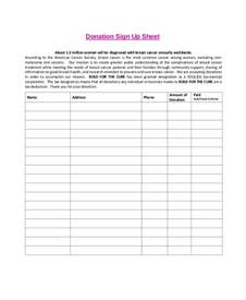 donation page template free sign up sheet 11 free pdf word documents