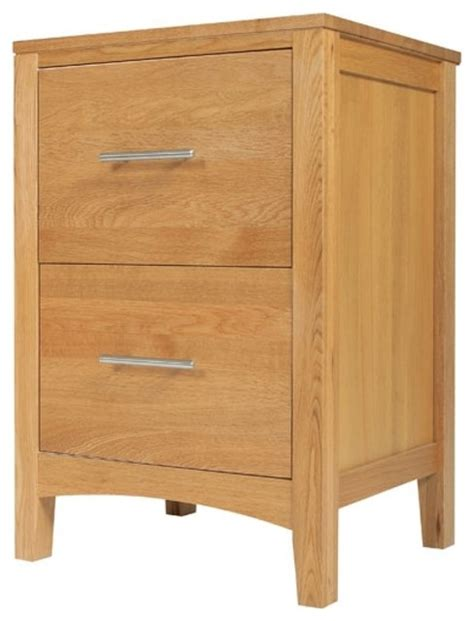 Cabinet Drawer Runners Solid Hereford Oak 2 Drawer Filing Cabinet 2 Drawers On