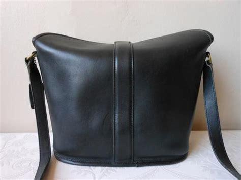 handbags bags coach designer vintage genuine leather black sling crossbody handbag bag was