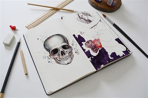 sketchbook mockup free a photo realistic sketchbook mock up for showcasing your