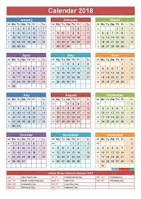 Calendar 2018 With Festivals 2018 Calendar With Holidays Printable Yearly Calendar