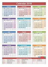 Calendar 2018 Temple 2018 Calendar With Holidays Printable Yearly Calendar