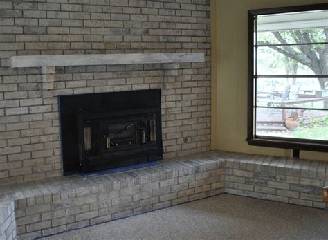 light gray painted brick grey painted brick fireplace fireplace design ideas