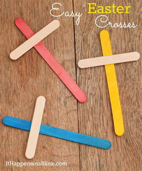easy crafts for school easy easter crosses