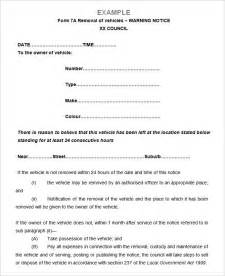 notice form exle marriage notice form sle notice