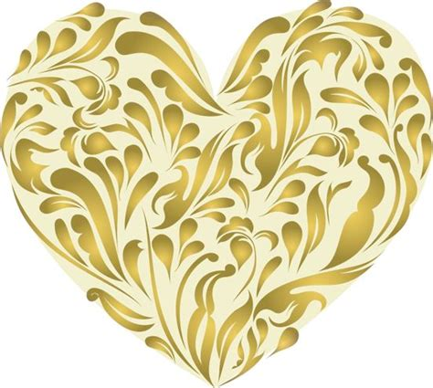 gold heart made with curls png 552 215 496 pixels herzen