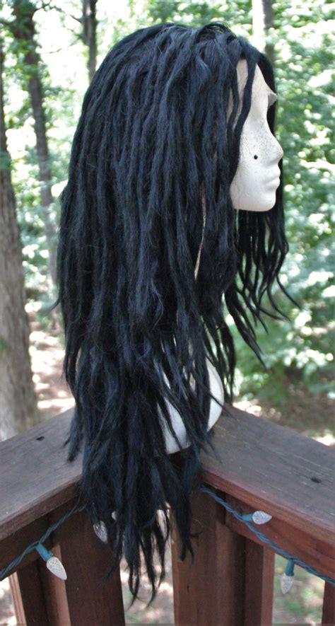 lace front dreadlocks jet black lace front synthetic dreadlock wig by