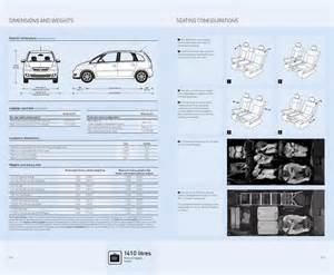 Vauxhall Dimensions Page 5 Of Vauxhall Meriva Specifications 2007