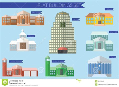 design concept for city hall flat design vector illustration concept for building