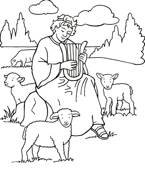 David Coloring Page bible coloring pages king david coloring home