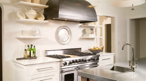 small white kitchen with steel hood dome range hood transitional kitchen amoroso design