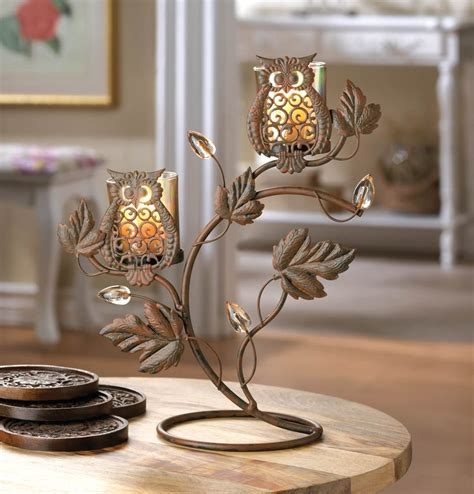 candel holder metallic candle holders brown iron decorative metal