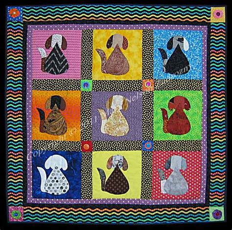 Puppy Quilt Pattern by Dogs And Quilting Patterns Books And Links