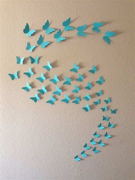 Etsy Wall - 3d butterfly wall 48 96 or 144 butterflies