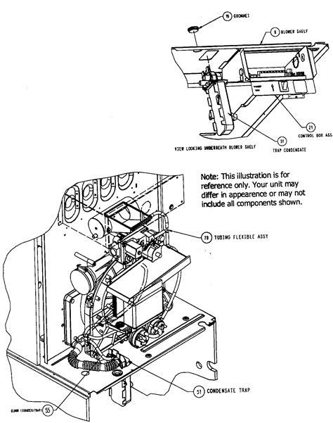 carrier furnace parts diagram box assy diagram parts list for model
