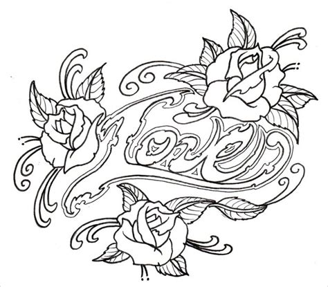 20 Rose Drawings Sketches Design Trends Premium Psd Vector Downloads Outline Drawings For