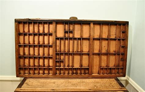 Printers Drawers For Sale by Vintage Industrial Printers Tray Printers Drawer Typeset