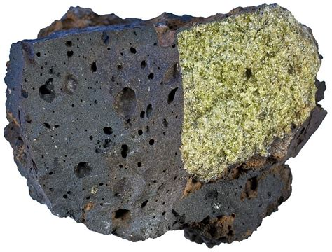 light colored rocks with lower densities form from basaltic magma olivine rock forming minerals