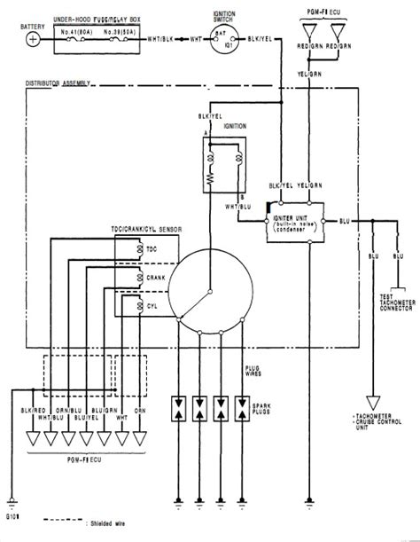 wiring diagram for the ignition system honda tech