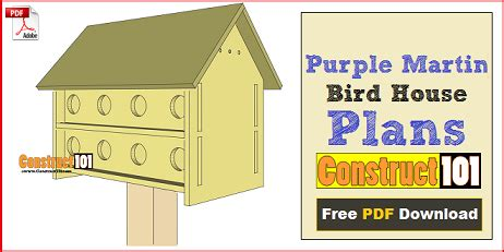 Simple Purple Martin House Plans Bird House Plans Free Simple To Build Projects And Pictures