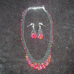 zig zag scallops necklace pattern ravelry scallop edge beaded necklace pattern by carol f