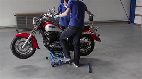 Motorradheber Für Yamaha Xv 535 by Motorradheber Mit 500 Kg Tragkraft Datona De Youtube