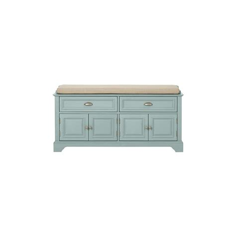 home decorators storage bench home decorators collection sadie storage antique blue