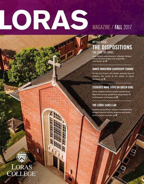Loras College Mba by Loras College Magazine Fall 2017 By Loras College Issuu