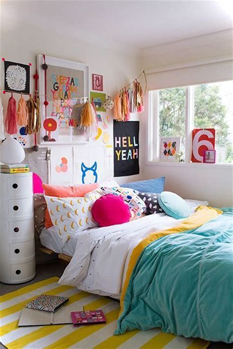 Colorful Teenage Bedroom Ideas | colorful teenage girls room decor small house decor