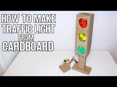 how to make traffic light from cardboard youtube