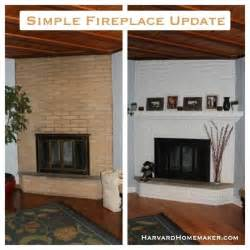 simple fireplace update decorating