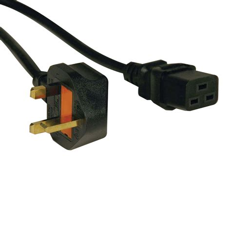 Ac Ups C19 tripp lite standard uk power cord lead cable 13a iec 320 c19 to bs 1363 uk 2 43 m 246
