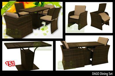 11520 Naura Set 2 In 1 Berkualitas toko kursi rotan toko kursi rotan sintetis dan murah dan berkualitas