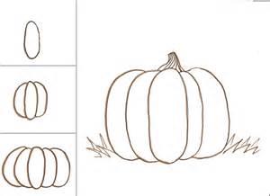 drawing of a pumpkin for pumpkins class ideas journal