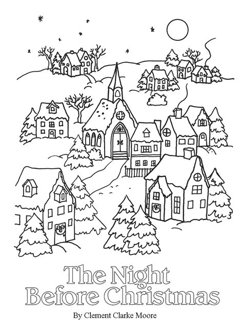 coloring pages for twas the night before thanksgiving twas the nifgt before christmas coloring pages coloring home