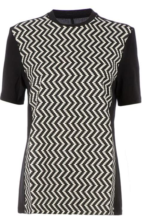zig zag shirt pattern neil barrett zig zag pattern t shirt in black lyst
