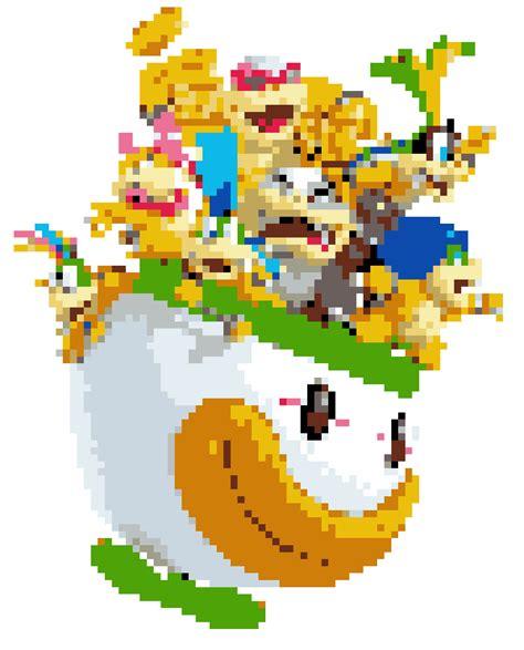 super mario pixel art by sullyvancraft on deviantart koopalings by yaseenm on deviantart