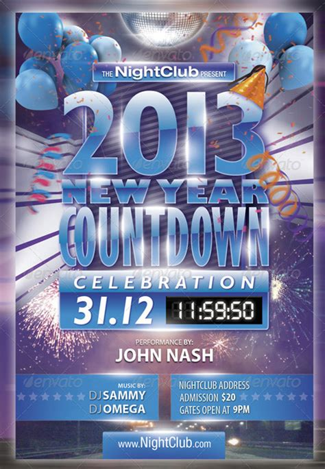 Graphicriver 2013 New Year Countdown Party Flyer Countdown Poster Template