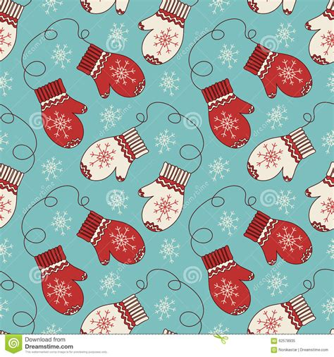 seamless mitten pattern seamless pattern with mittens stock vector image 62578935