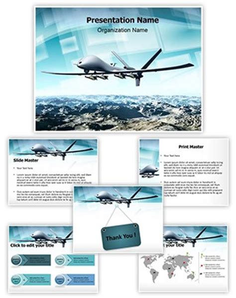 Professional Drone Aircraft Editable Powerpoint Template Drone Intro Template